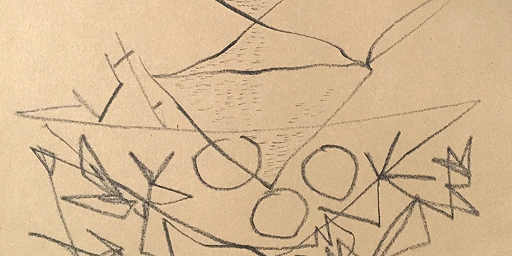 Keith Martin, Nesting Bird, crayon on paper, 1947
