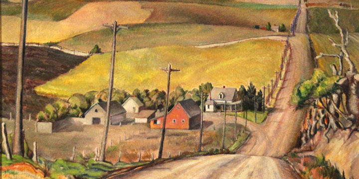 Gladys M. Lux, The Hill Road, oil on canvas, n.d.