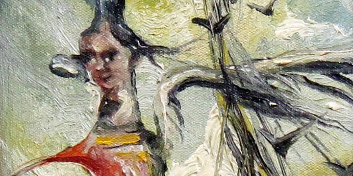 Keith Martin, Mermaid, oil on canvas, nd.