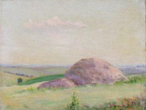 Robert F. Gilder, Haystack, oil on canvasboard, n.d.