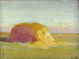 Robert F. Gilder, Hay Stack, oil, 1901