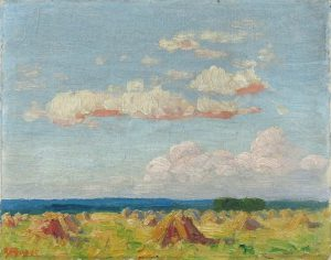Robert F. Gilder, Blue and Gold, oil on board, n.d.