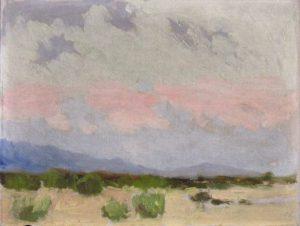 Robert F. Gilder, Desert Afterglow, oil on board, n.d.