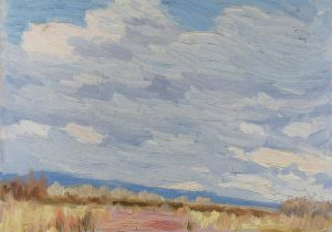 Robert F. Gilder, Sky and Desert, oil, n.d.