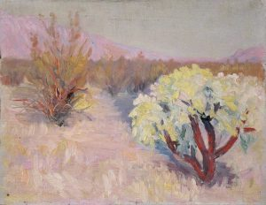 Robert F. Gilder, Desert Tree, oil on board, n.d.