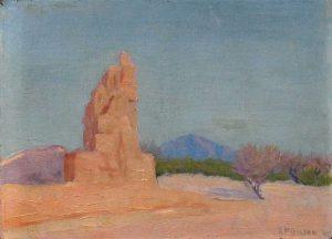 Robert F. Gilder, Desert Rock Formation, oil on board, n.d.
