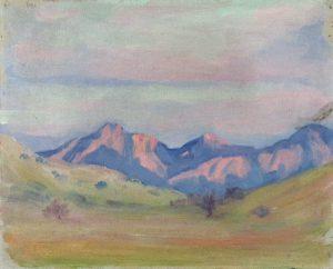 Robert F. Gilder, Mountain and Shadows, oil on canvas, n.d.