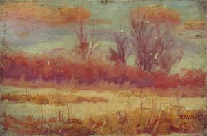 Robert F. Gilder, Untitled, oil on canvas board, 1899