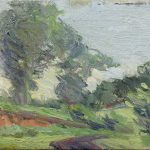 Robert F. Gilder, Untitled, oil on canvas board, n.d.
