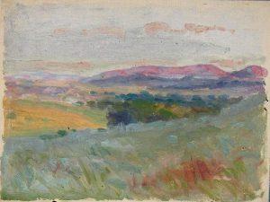 Robert F. Gilder, Field, Lavender Hills, oil, n.d.