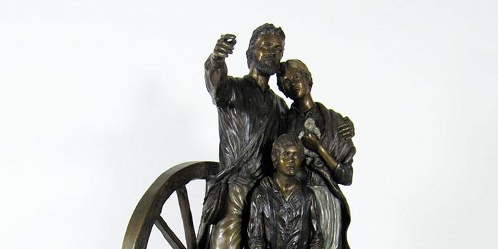 David Manuel, The Promised Land, bronze, 1992