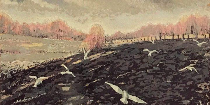 Gladys M. Lux, Spring Turning, serigraph, 1943
