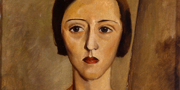 Alfred William Burchard, Portrait of a Woman, #2, oil on canvas, 1932
