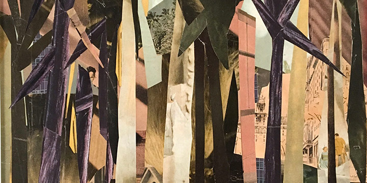 Alta M. Fieselman, The Forest, collage, 1957