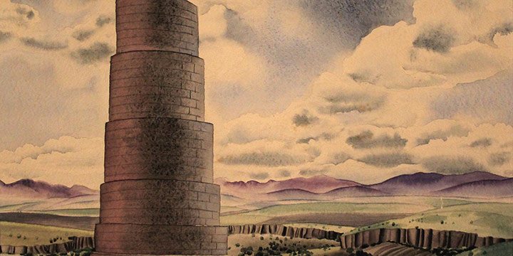 Terence Duren, Old Spanish Aquaduct, watercolor, 1936