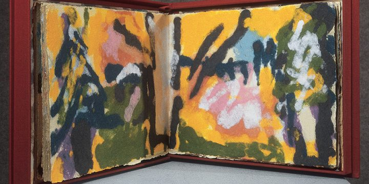 Mary Beth Schmidt Fogarty, Colours of the Spirit, artist book: handcolored paper (25/40) in collaboration with John Gerard, paper construction, 2000