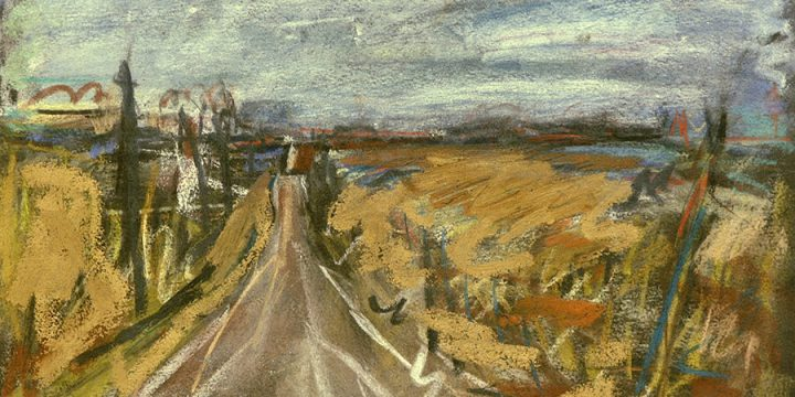 Mary Beth Schmidt Fogarty, Grandpa's Road, pastel on paper, 2000