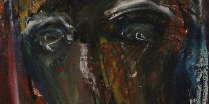 Mary Beth Schmidt Fogarty, Dark Horse Head, pastel on paper, c. 2000