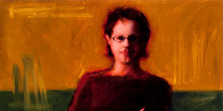 Linda Hotovy Welsch, Josephine, Art Curator, oil on canvas, 2002
