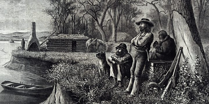 William de la Montagne Cary, Washed Out by the Floods - An Incident of Cabin Life in the West, wood engraving, published in Harper's Weekly, September 18, 1875