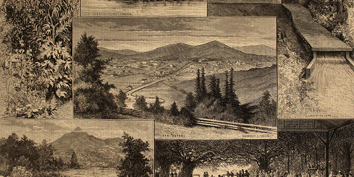 Paul Frenzeny, The Suburbs of San Francisco, wood engraving, published in Harper's Weekly, May 29, 1875