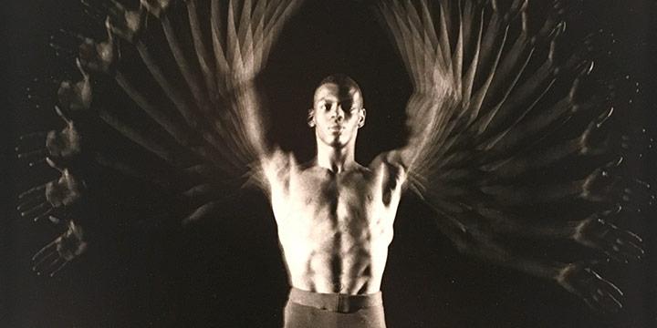 Harold Edgerton, Gus Solomons (dancer), black & white photograph, 1960