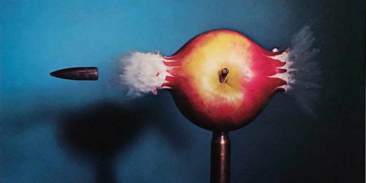 Harold Edgerton, .30 Bullet Piercing Apple, photolithograph, signed