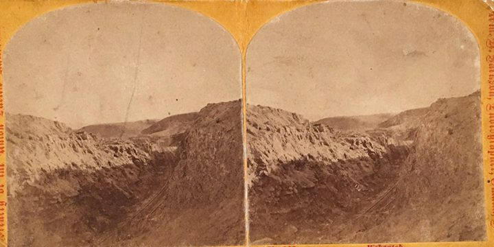 William Henry Jackson, Scenery of the Union Pacific Railroad - No. 146 The Wahsatch, stereoview, 1868-1869
