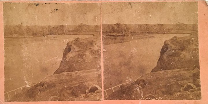 William Henry Jackson, Scenery of the Union Pacific Railroad -  No. 195 Nth Platte River and Valley, stereoview, 1868-1869