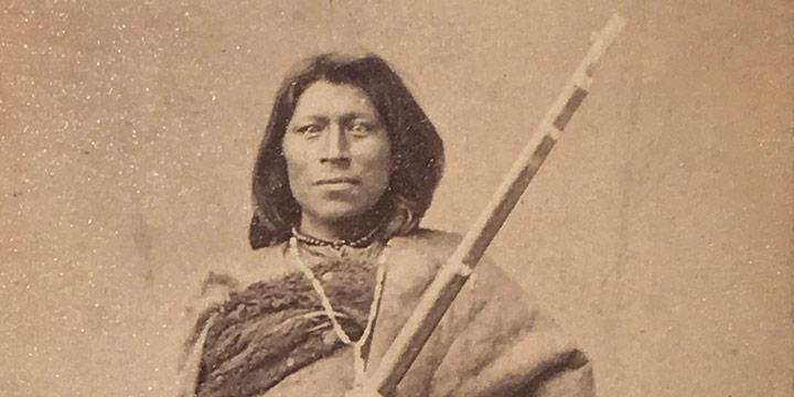 William Henry Jackson, Pawnee Indian, carte de visite, c. 1865-1868