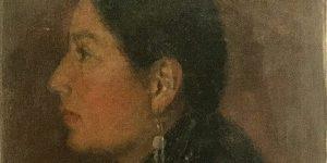 Angel De Cora (Hinook Mahiwi Kilinaka), Josephine Sampson Greyhair, oil on canvas, c. 1898-1910