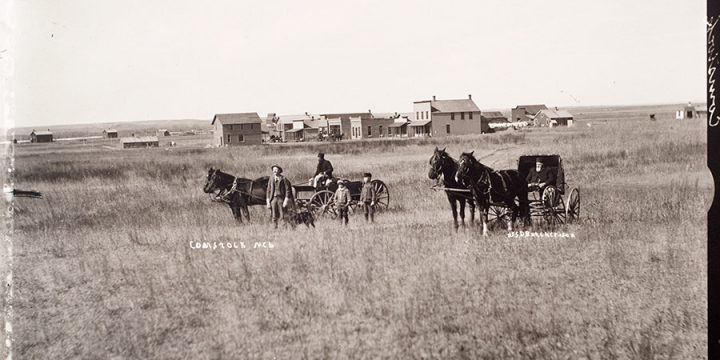 Solomon D. Butcher, Comstock, Custer County, Nebraska, 1904, black & white photograph (from glass plate negative in the Nebraska State Historical Society Collection), c. 1982-1984