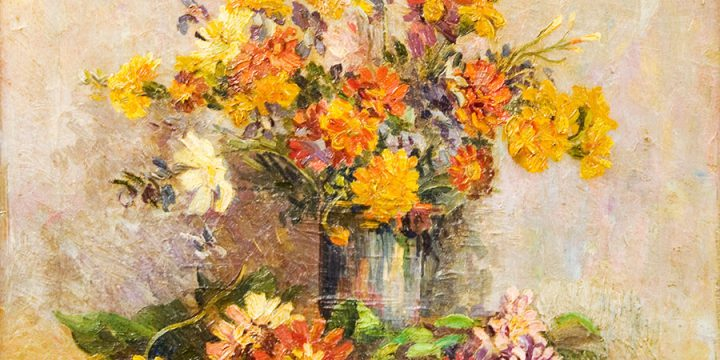 Marion Canfield Smith, Untitled (floral bouquet), oil on canvas, n.d.