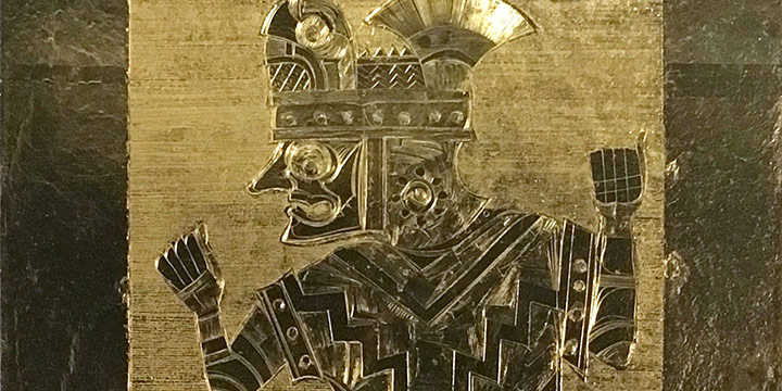 John Thein, Antara I , gold leaf