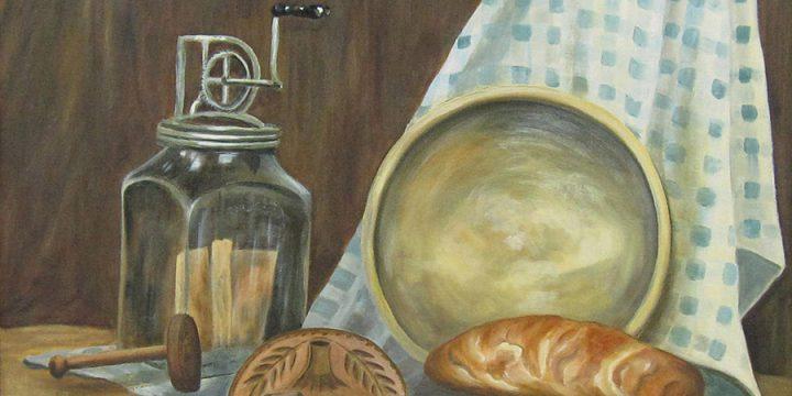 Melda B. Shippey, Old Things, oil on board, n.d.