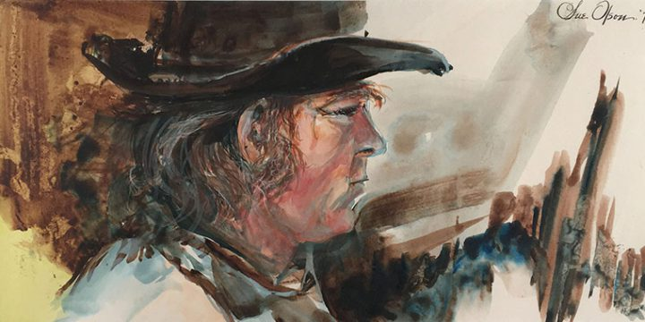 Sue Olson-Mandler, Portrait of Tom Palmerston, watercolor, 1972