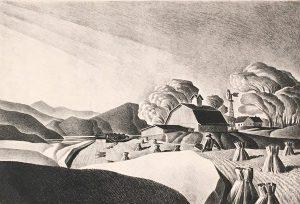 Dale Nichols, Golden Harvest, lithograph, 1948