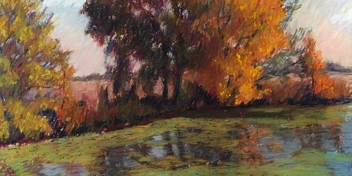 Jane Scott, Golden Pond, pastel, n.d.