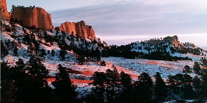 Robert Grier, Red Cloud Buttes at Sunrise, color photograph, c. 1997-1999