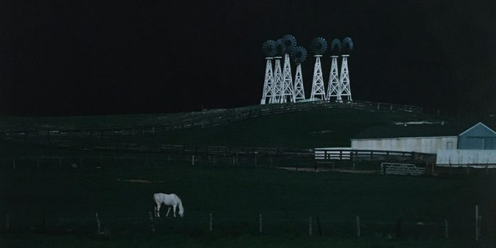 Robert Grier, Seven Windmills, color photograph, 1998
