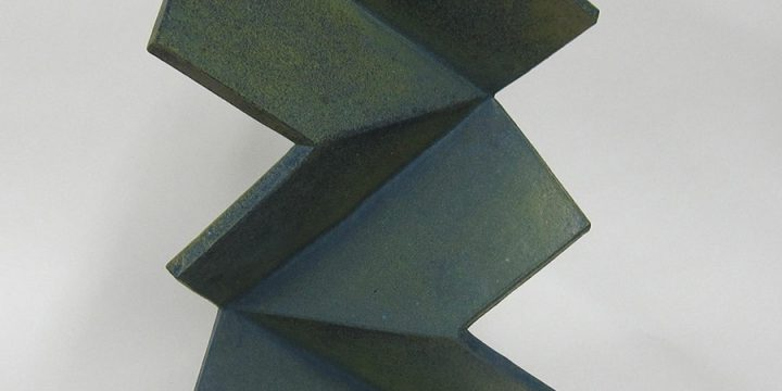 Triangular Torque, Blue Green, stoneware, glazed, 1998
