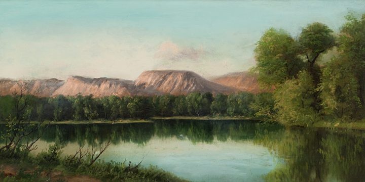 Henry Howard Bagg, Untitled (landscape), oil on linen, n.d.