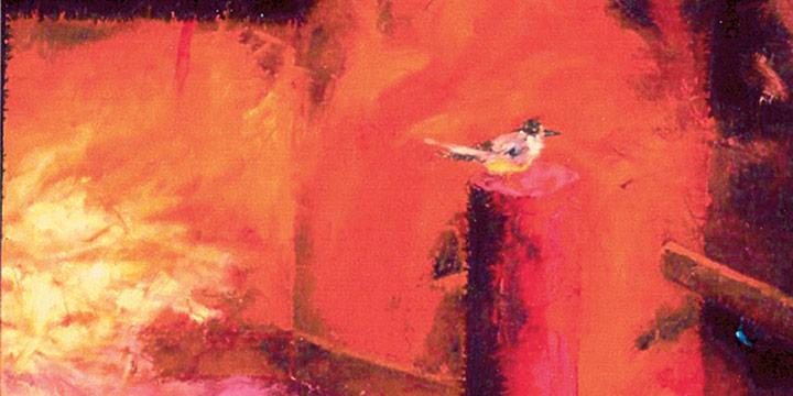 Dan Howard, Soliloquium: V (bird), oil on linen canvas, 2003