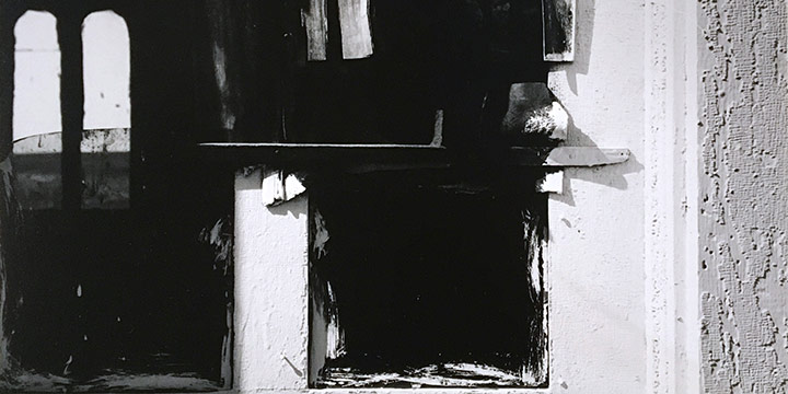 Peter Worth, Abstract Composition B, black & white photograph, n.d.