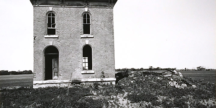 Peter Worth, Deserted House, black & white photograph, n.d.
