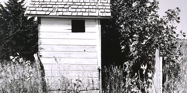 Peter Worth, Deserted Outhouse, black & white photograph, n.d.
