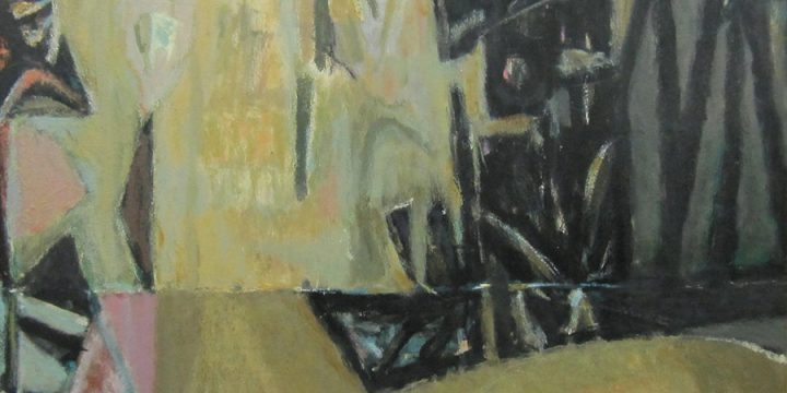 Ward Lindley Jr., Untitled (abstract), oil on masonite, n.d.