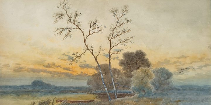 Robert Spencer, Untitled (landscape), watercolor, 1903