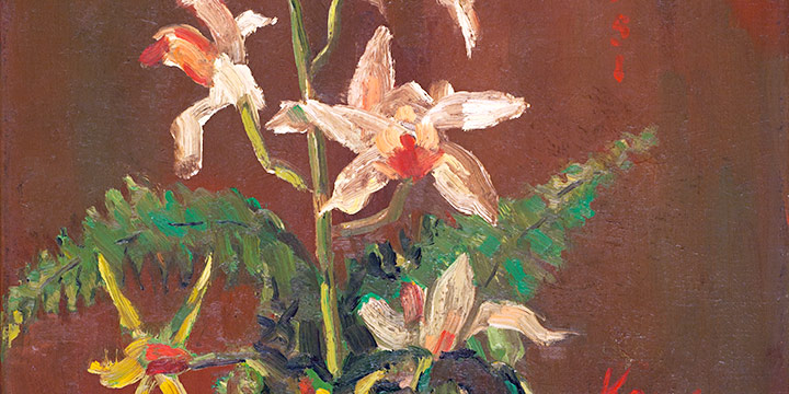 Weldon Kees, Untitled (flowers), oil on linen, n.d. or 1951