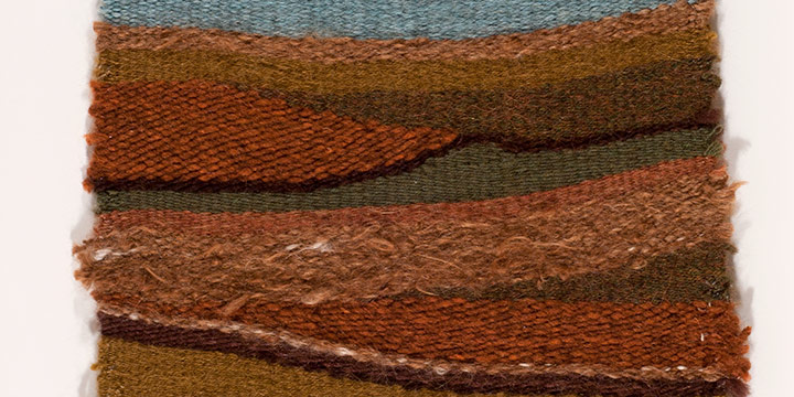 Christine Lockhart-Brown, Dissected Plains, mohair, wool weaving, c. 2008